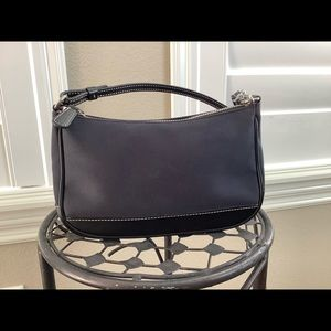 Coach dark blue clutch